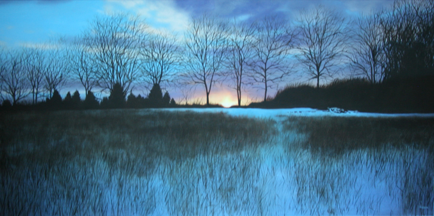 award winning oil painting snow landscape by Paul Kiesche