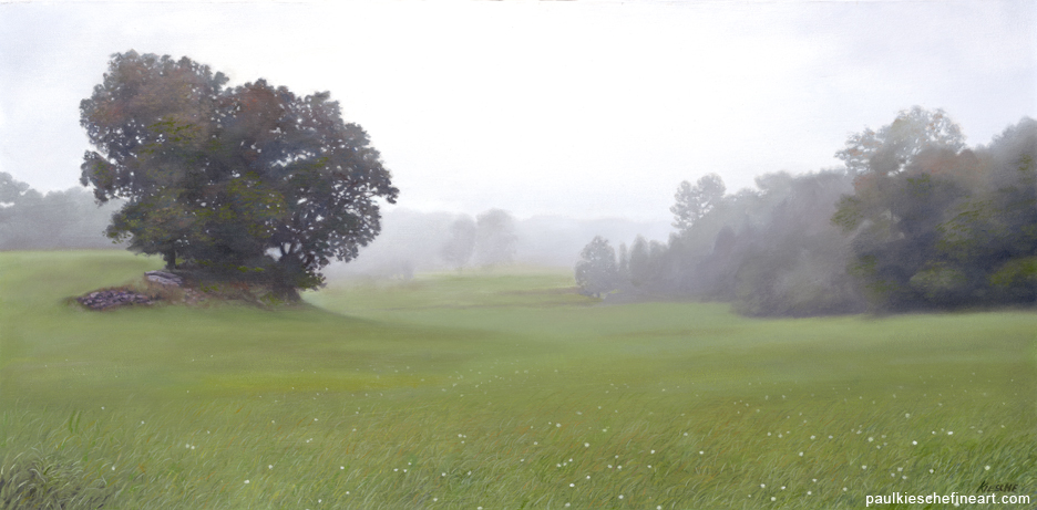 blairstown fog landscape award winning painting